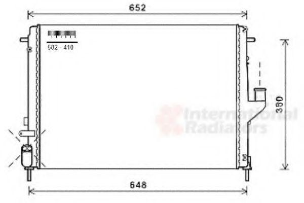 Радиатор охлаждения DUSTER/LOGAN/SANDERO +AC(пр-во Van Wezel)                                        VANWEZEL 43002478