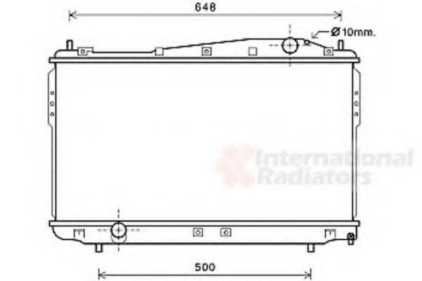 Радиатор охлаждения CHEVROLET EPICA (V250) (пр-во Van Wezel)                                         VANWEZEL 81002136