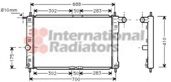 Радиатор охлаждения DAEWOO LANOS (97-) 1.3-1.6 i (пр-во Van Wezel)                                   VANWEZEL 81002014