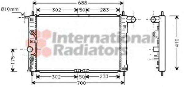 Радиатор охлаждения LANOS 1,3-1,6 AT 97- (Van Wezel)                                                 VANWEZEL 81002015