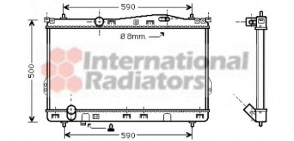 Радиатор охлаждения HYUNDAI TRAJET (FO) (99-) 2.0-2.7  (пр-во Van Wezel)                             VANWEZEL 82002077