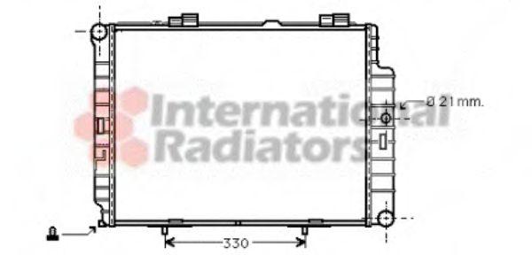 Радиатор охлаждения MERCEDES E II (210) (пр-во Van Wezel)                                            VANWEZEL 30002287
