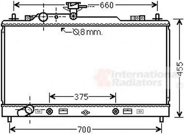 Радиатор охлаждения MAZDA 6 (07-) 2.0 i 16V (+) (пр-во Van Wezel)                                    VANWEZEL 27002228