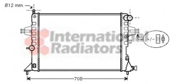Радиатор охлаждения ASTRAG/ZAFIRA 14/16MT +AC(пр-во Van Wezel)                                       VANWEZEL 37002296