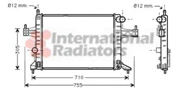 Радиатор охлаждения CORSA C 14/18 MT 09/00-(пр-во Van Wezel)                                         VANWEZEL 37002306