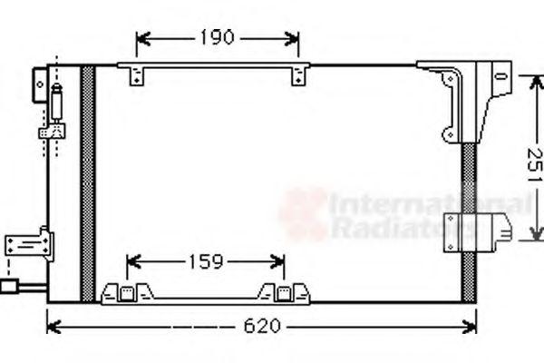 Конденсор кондиционера ASTRA G/ZAFIR MT/AT 98-04 (Van Wezel)                                         VANWEZEL 37005251