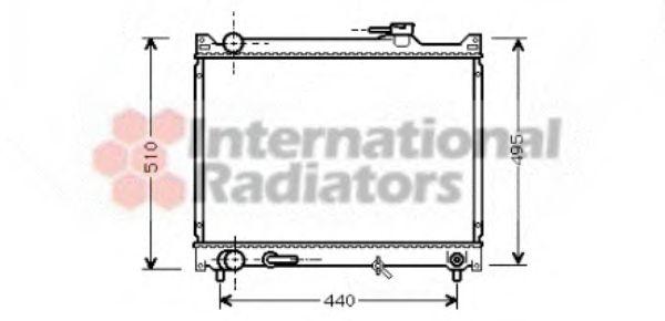 Радиатор охлаждения (GR) VITARA 20/25 AT 98-(пр-во Van Wezel)                                        VANWEZEL 52002047