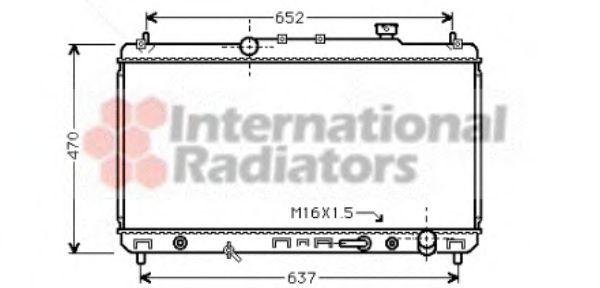 Радиатор охлаждения CAMRY 22i AT 96-01(пр-во Van Wezel)                                              VANWEZEL 53002236