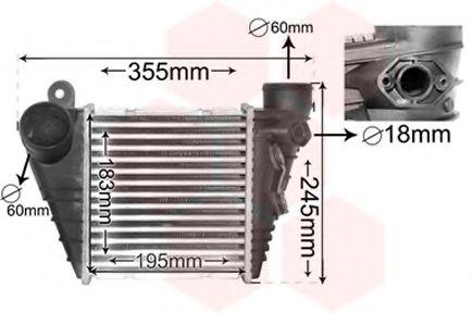 Интеркулер Интеркулер GOLF IV 1.8/1.9TDI MT/AT (Van Wezel) VANWEZEL арт. 03004185