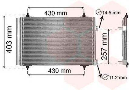 Радиатор кондиционера Конденсор кондиционера C4/C4 PICASSO/P307 04- (Van Wezel) VANWEZEL арт. 09005231