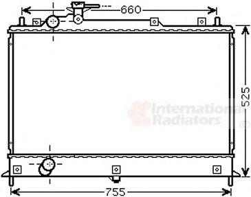 Радиатор охлаждения MAZDA CX-7 (ER) (07-) (пр-воVan Wezel)                                           VANWEZEL 27002255