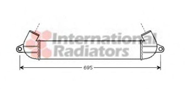 Интеркулер Интеркулер FT DOBLO 1.9 JTD 01-(пр-во Van Wezel)                                                     VANWEZEL арт. 17004271