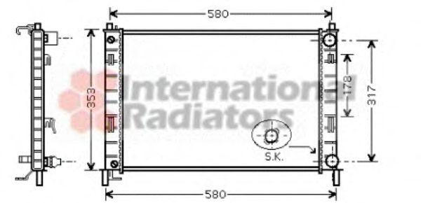 Радиатор охлаждения FIESTA V 1.3MT +/-AC 02-(пр-во Van Wezel)                                        VANWEZEL 18002324
