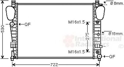Радиатор охлаждения MERCEDES (пр-во Van Wezel)                                                       VANWEZEL 30002306