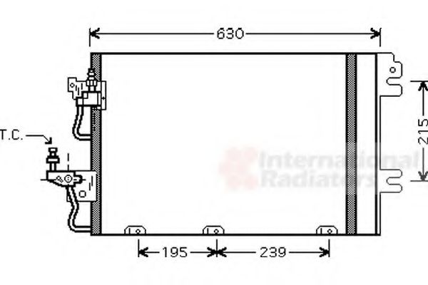 Конденсор кондиционера ASTRA H 14/16/18 MT 04- (Van Wezel)                                           VANWEZEL 37005366