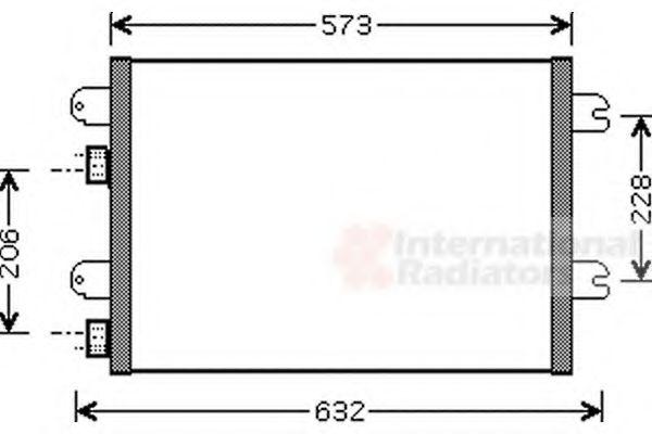 Радиатор кондиционера DACIA LOGAN (04-) (пр-во Van Wezel)                                            в интернет магазине www.partlider.com