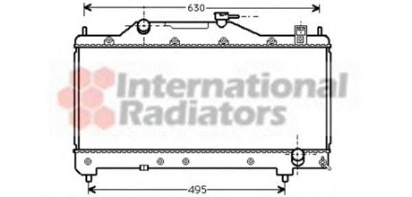 Радиатор охлаждения AVENSIS 16/18/20 MT 00-(пр-во Van Wezel)                                         VANWEZEL 53002283