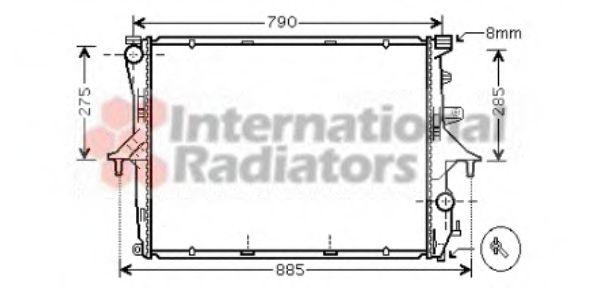 Радиатор охлаждения AUDI; PORSCHE; Volkswagen (пр-во  Van Wezel)                                     VANWEZEL 58002214