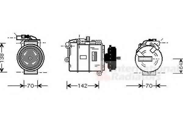 Компрессор кондиционера VW-TRANSPORTER T5  03- (пр-во Van Wezel)                                     в интернет магазине www.partlider.com