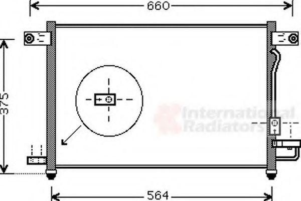 Конденсор кондиционера AVEO/KALOS 12i MT 02-08 (Van Wezel)                                           VANWEZEL 81005049