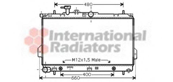 Радиатор охлаждения HYUNDAI MATRIX (FC) (01-) AT (пр-во Van Wezel)                                   VANWEZEL 82002096