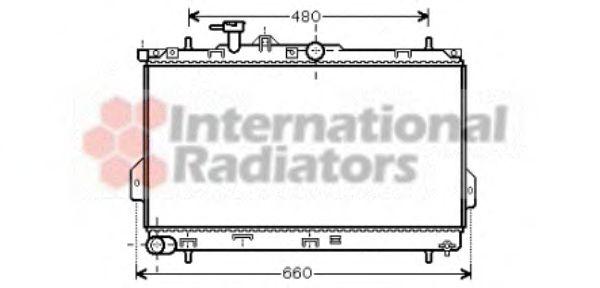 Радиатор охлаждения HYUNDAI  MATRIX (FC) (01-)  1.6 i  (пр-во Van Wezel)                             VANWEZEL 82002097