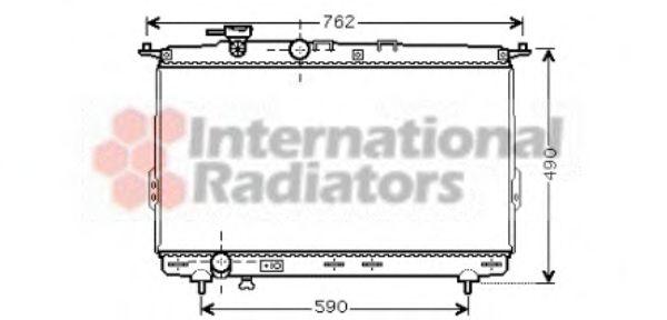 Радиатор охлаждения HYUNDAI SONATA IV (EF) (98-) (пр-во Van Wezel)                                   VANWEZEL 82002106