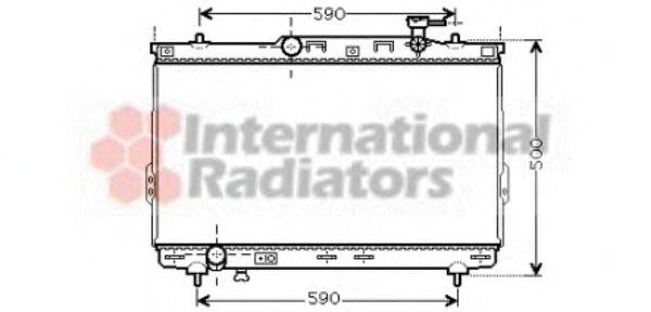 Радиатор охлаждения HYUNDAI SANTA FE (пр-во Van Wezel)                                               VANWEZEL 82002109