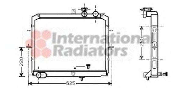 Радиатор охлаждения KIA  PREGIO (97-)  2.7 D (пр-во Van Wezel)                                       VANWEZEL 83002033