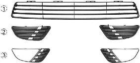 Решетка вентилятора, буфер  арт. 1805592