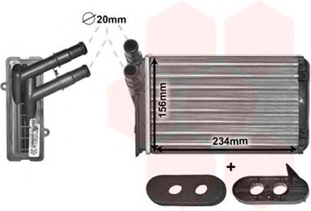 Радиатор отопителя VW/AUDI/SEAT/SKODA (Van Wezel)                                                    NISSENS арт. 58006060