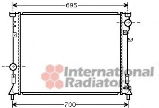 Радиатор CHRY 300C/DODGE MAGNUM 04 (Van Wezel)                                                        арт. 07002097