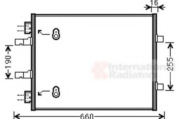 Радиатор кондиционера NISSAN; OPEL; RENAULT (пр-во Van Wezel)                                        в интернет магазине www.partlider.com