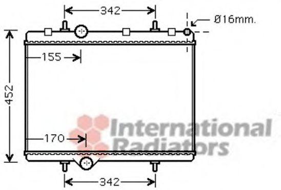 Радиатор охлаждения BERLINGO/XS PIC/PARTNER D(пр-во Van Wezel)                                       VANWEZEL 40002281