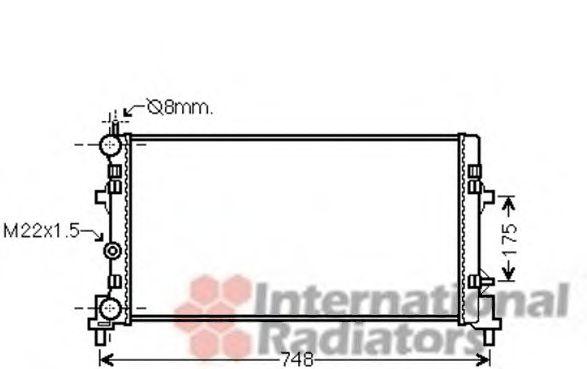 Радиатор охлаждения IBIZA5 12i/14i/16i 08-(пр-во Van Wezel)                                          VANWEZEL 49002037