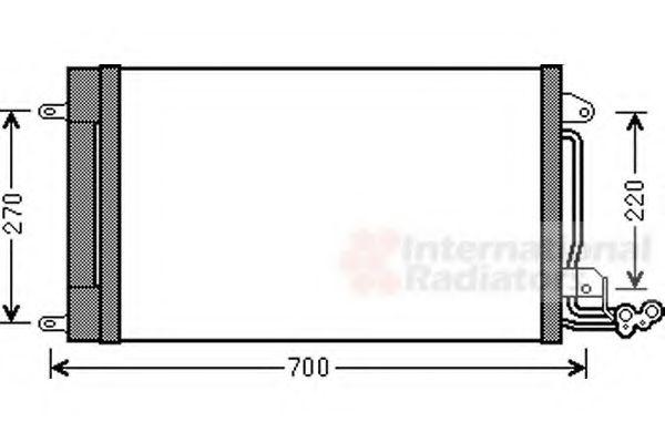 Конденсатор кондиционера IBIZA5 12/14/16/14D 08-(пр-во Van Wezel)                                    VANWEZEL 49005038