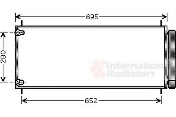 Конденсатор кондиционера TOYOTA AURIS (E15) (07-) 2.0/2.2 D4D MT (пр-во Van Wezel)                   VANWEZEL 53005406