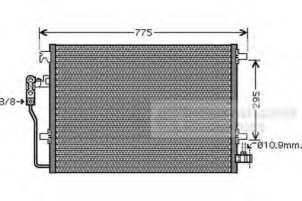 Конденсатор кондиционера CRAFTER 25TDi/SPRINTER 06(пр-во Van Wezel)                                  VANWEZEL 58005277