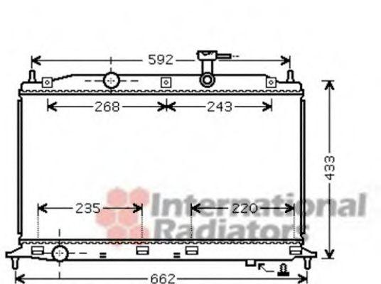 Радиатор охлаждения ACCENT3/VERNA3 14/16 05-(пр-во Van Wezel)                                        VANWEZEL 82002188