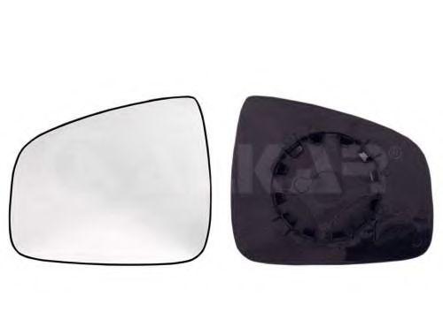 Стекло зеркала левое +держатель, віпуклое ALKAR 6401594