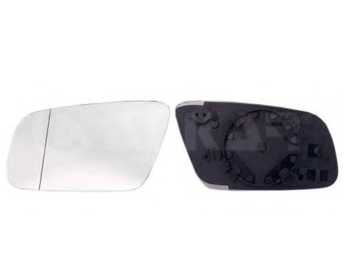 Стекло зеркала левого с пласт. держателем, асфер.,обогрев. ALKAR 6401797
