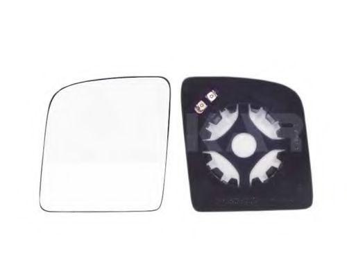 Стекло зеркала лев. с пласт. держателем, с подогревом, выпуклое ALKAR 6431390