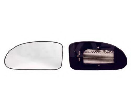 Стекло зеркала лев. с пласт. держателем, с подогревом,выпуклое ALKAR 6431399