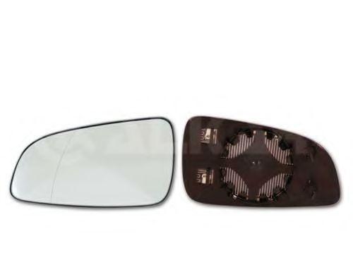 Стекло зеркала прав. с пласт. держателем, с подогревом, асферическое, выпуклое ALKAR 6432438