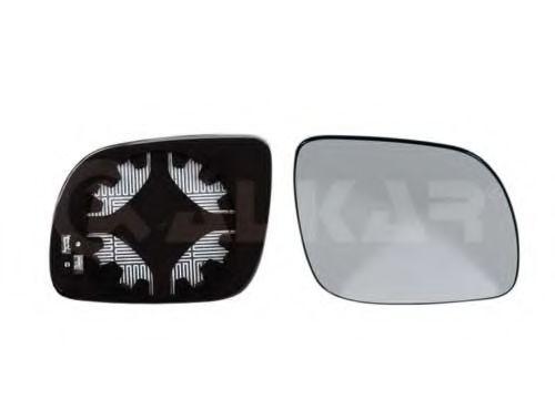 Стекло зеркала лев. с пластик. держат., с подогрев., (малый тип) ALKAR 6432521