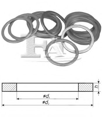 Алюминиевые шайбы/Al 4,00 x 8,00 x 1,00 FISCHER арт. 053100100