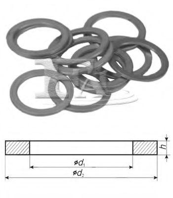 уплотнительное кольцо/Cu 6,50 x 9,50 x 1,00 арт.
