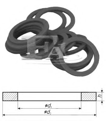 Уплотнительное кольцо/VFA 12,00 x 19,00 x 1,50 FISCHER арт. 542870100