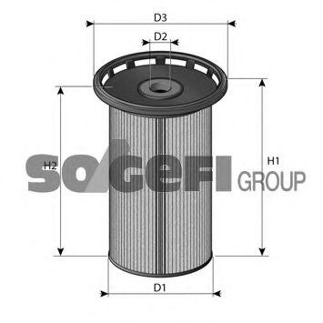 Фільтр палива Audi/VW/Skoda 1.6TDI-2.0TDI 2012- PURFLUX C813