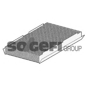 Фильтр салона угольный Peugeot 307 1.4-2.0, 2.0HDI 04/01- PURFLUX AHC319